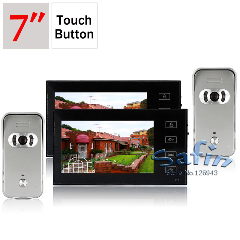 2 monitor 2 camera 7inch video doorphone intercom Dp-766 X 22 monitor 2 camera 7inch video doorphone intercom Dp-766 X 2