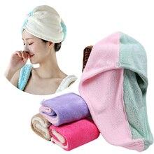 Женское супер абсорбирующее быстросохнущее из микрофибры полотенце для ванной сухая шапочка банное турецкое полотенце