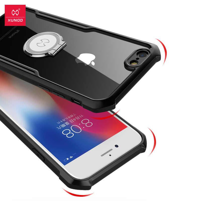 Xundd à prova de choque caso do telefone para o iphone 6 6s 7 plus 8 mais amortecedor caso capa de telefone magnético coque para x xs max xr