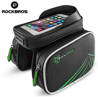 ROCKBROS Bicycle Frame Front Head Top Tube Waterproof Bike Bag Double Pouch Cycling For 4 2