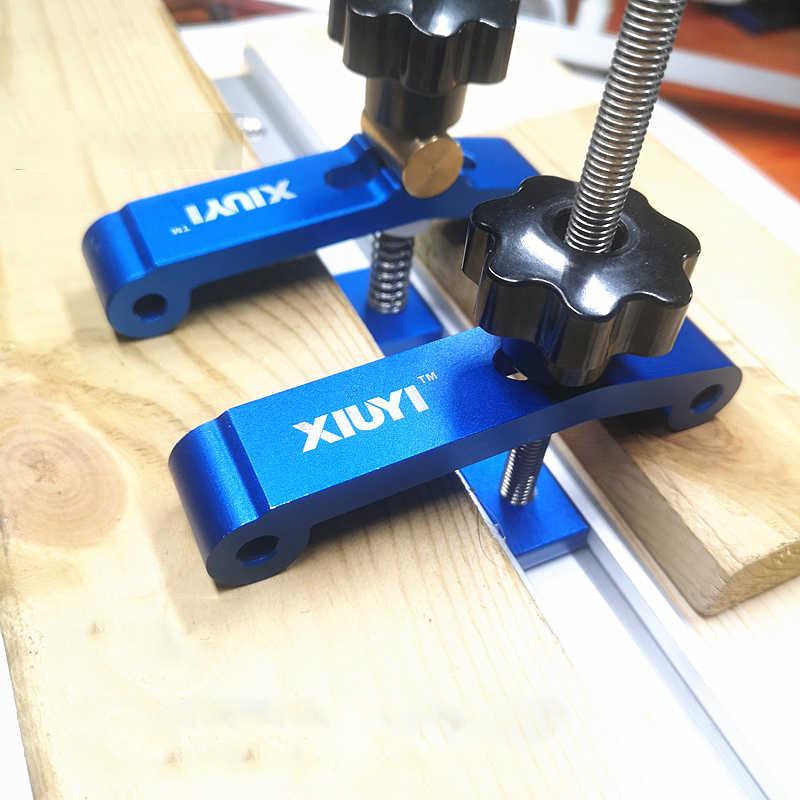 1 Набор зажимных блоков, быстросъемный зажим, набор из алюминиевого сплава, Т-образный зажим, DIY, Деревообрабатывающие инструменты