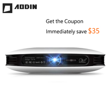 AODIN M18 mini LED Projector 4K 3D DLP projector Pocket Android HDMI Input 2G DDR3 Full HD 1080P portable projector home theater