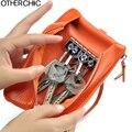Women Men Leather Key Wallets Small Phone Purses Case Coin Pouch Change Purse Women Short Wallet Cash Zip Pocket Wrislet