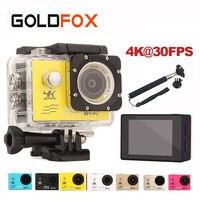 GOLDFOX Wifi Action Camera 4K 30FPS 30M Waterproof Go Diving Pro Sport Mini DV 1080P/60fps Video Camera Bike Helmet Car Cam DVR