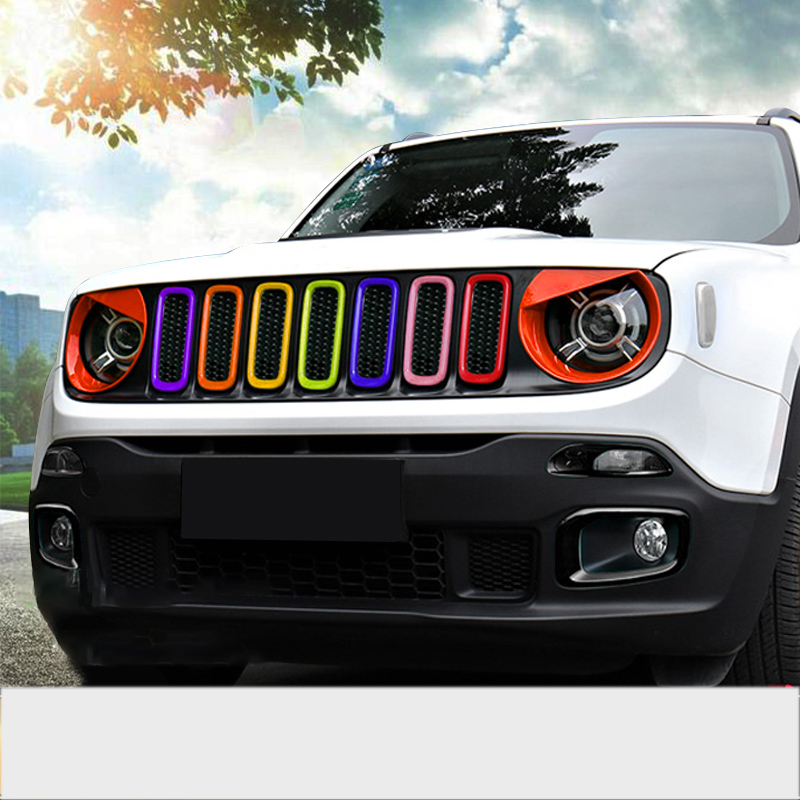 Lsrtw2017 Abs Car Front Grill Middle Net Trims for Jeep Renegade