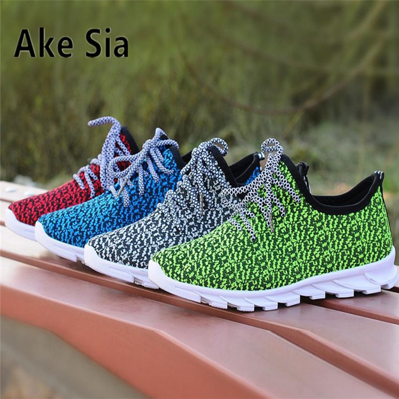 Ake Sia TOP SALE Men Spring Summer Autumn Fashion Casual Breathable Comfortable Jogging Sneakers Male Hombre Flat Shoes HOT micro micro 2017 men casual shoes comfortable spring fashion breathable white shoes swallow pattern microfiber shoe yj a081