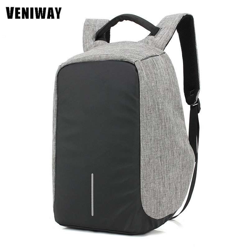 Multifunction USB Charge Fashion Backpack 15' Waterproof Laptop Rucksacks Male Mochila For XD City Anti-theft Design Backpack