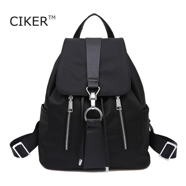 CIKER New Brand 2017 Women Backpack Waterproof Nylon Lady Women's Backpacks Female Casual Travel Bags mochila escolar feminina