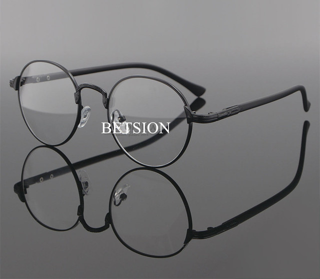 ad7f0ceca6 Vintage Myopia NEARSIGHTED Distance Black Eyeglass Frame Minus Metal Man  Women GLASSES -0.50 -0.75 -1.0 -1.25 -1.50 -1.75 -2.00