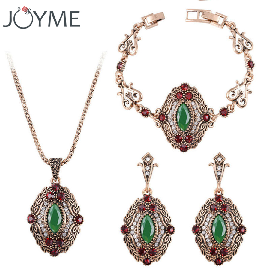Joyme Brand Indian Imitation Jewelry Bohemian Best Friend Stones And  Crystals Bracelet Necklace Hanging Earrings Set