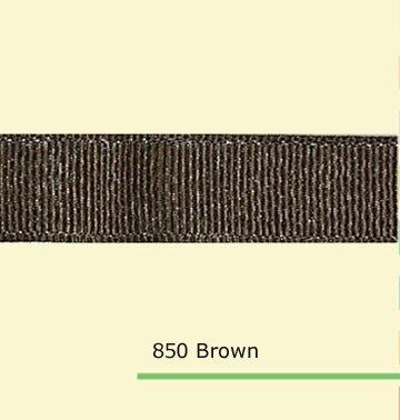 7/8 «дюйма (22 мм) оптовая серебряный блеск коричневый полушерстяной лентой