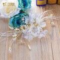 Borboleta doce headband encantador mulheres testa headpiece menina jóia de cristal coroa de noiva acessório do cabelo do casamento shuijing