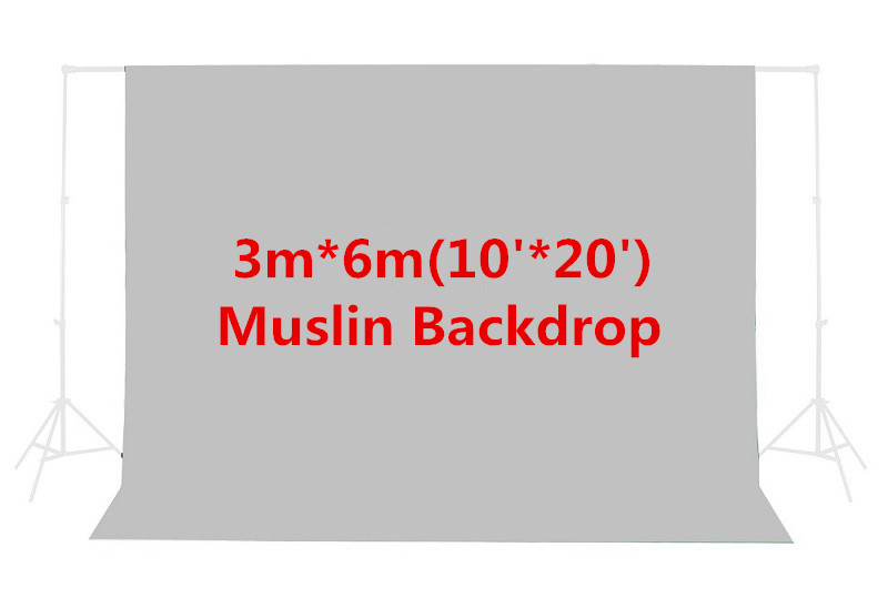 Photo Studio 10ft x 20ft/3m x 6m Gray Photo Studio Solid Muslin Background Backdrop PSB5B Hot Sales p s2 04 10 x 20 ft studio umbrella flash lighting kit with black muslin backdrop and background support