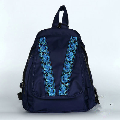 2017 New Floral Embroidery backpack Hot embroidery backpacks National Fashion children gift embroidery phone makeup book