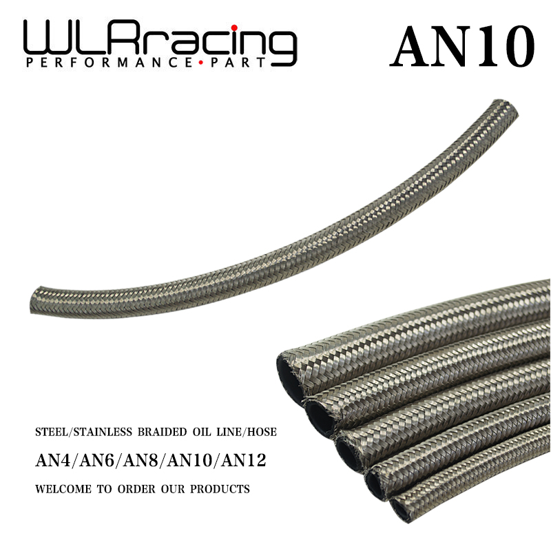 Stainless Steel Braided Fuel Oil Line Water Hose One Feet 0.3m Wlr7114-1 For Sale 14.2mm /0.58 Id An10 10an An-10 Wlr Racing