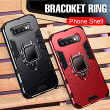 For Samsung S10 S 10 Plus Case Luxury Bracket Ring Galaxy S10E E Car Magnetic Bumper Cover