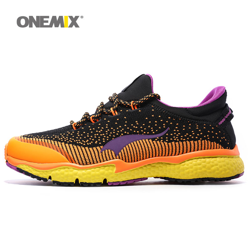 ONEMIX New Mens Running Shoes Breathable Outdoor Sport Shoes Men