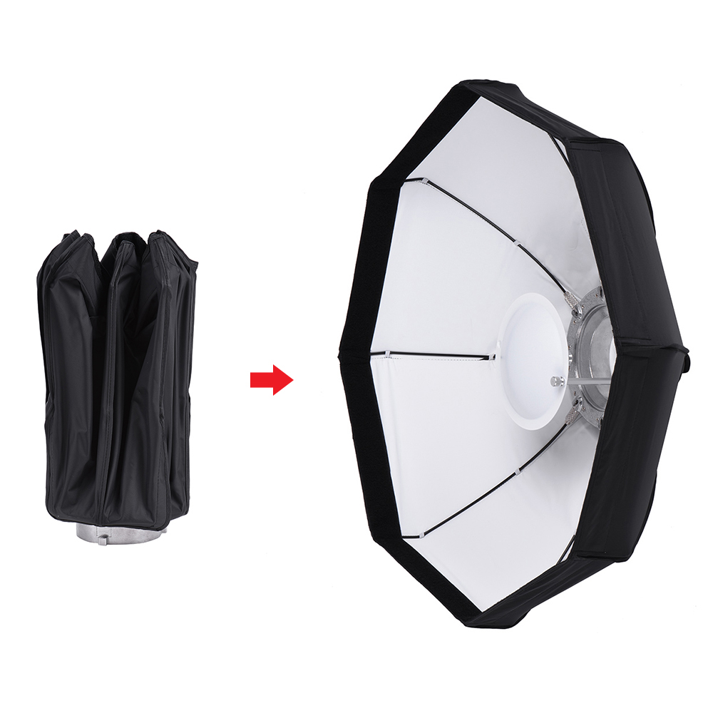 8 Pole 80cm 31 5 Rubber White Black Foldable Collapsible Softbox Flash Reflector Diffuser for Studio