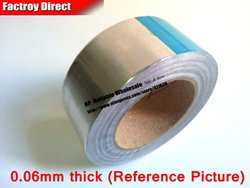Односторонняя клейкая лента из алюминиевой фольги для защиты ноутбука, теплоизоляция, дымовое уплотнение, 1x20 см, 200 мм * 40 м * 0,06 мм
