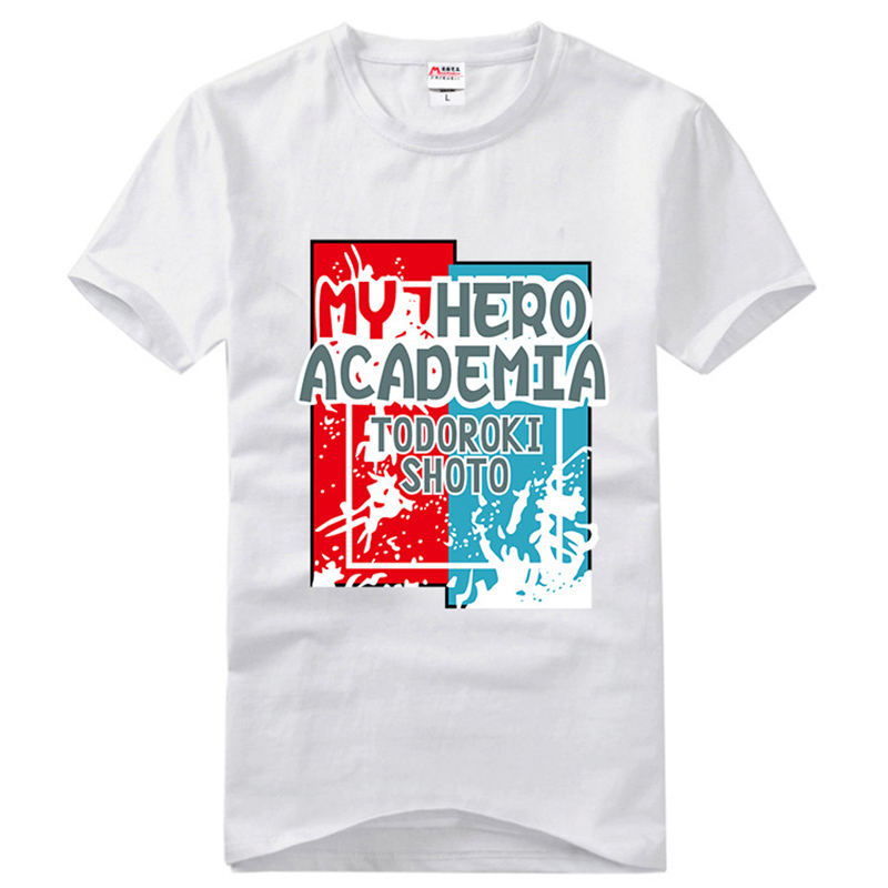 Boku No Hero Academia Todoroki Shoto Cotton T-shirt Cosplay Costume My Hero Academia T Shirt Short Sleeves Fashion Tees