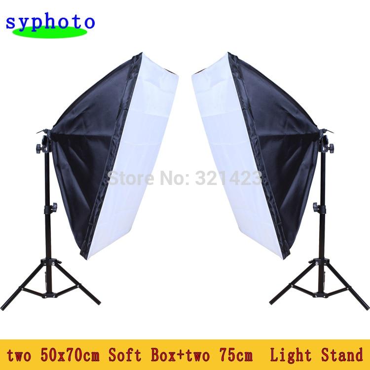 New  Photography Studio Light Lighting Kit Photo Softbox Light Stand 50x70cm softbox lightdow photography studio 45w softbox light stand kit
