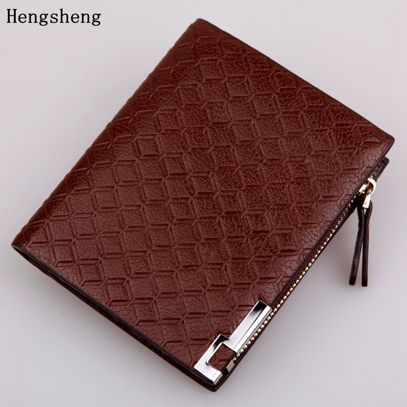 Hengsheng 2017 PU Material Lelaki Fesyen Wallet Fesyen Syiling Pendek - Dompet