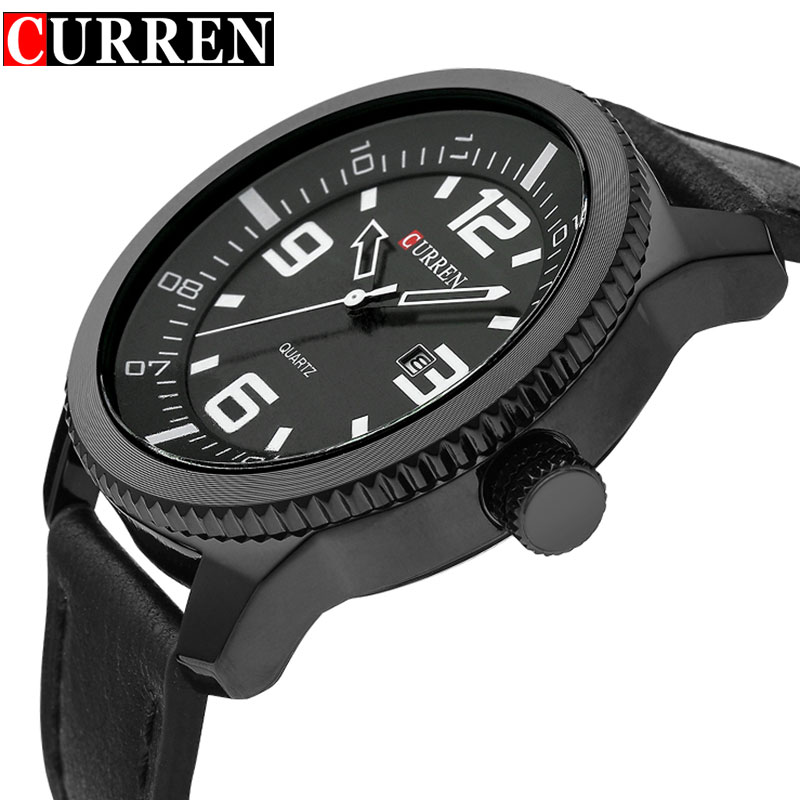 Curren Quartz Watches Men Luxury Quartz-watch Clock Male Casual Fashion Business Watch Leather Strap relogio masculino 2017 NEW