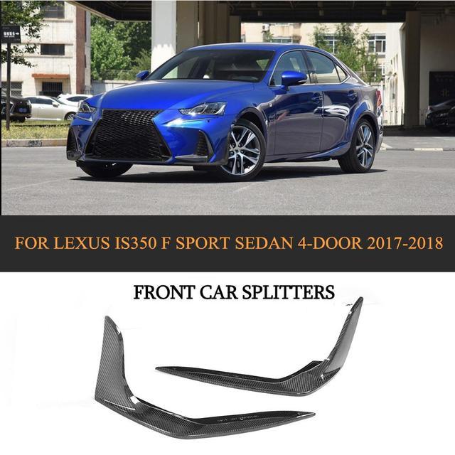Carbon Fiber Car Front Lip Splitter Flaps For Lexus Is F Sport Sedan