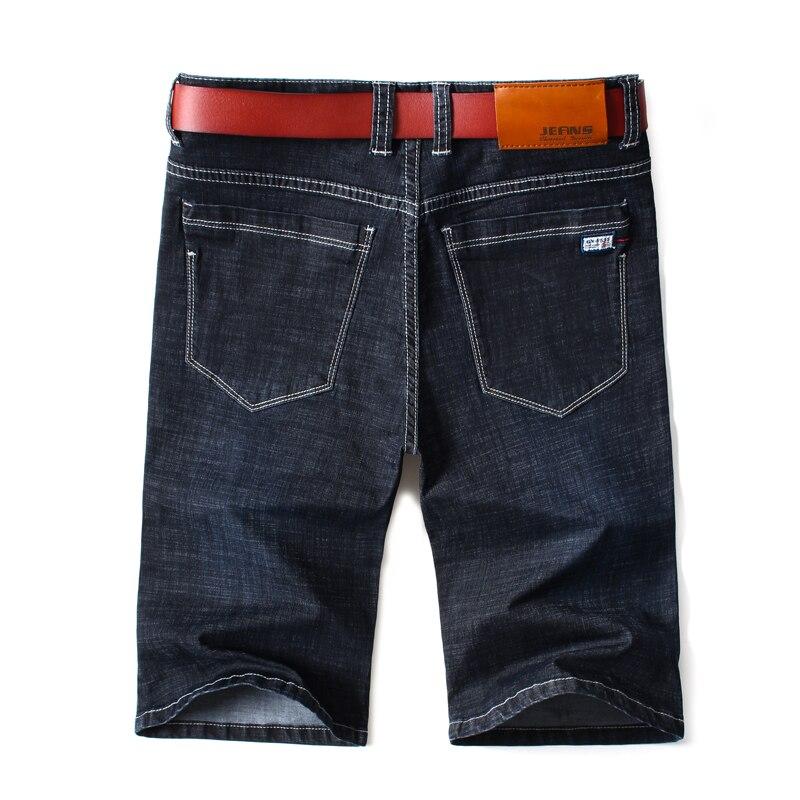 Mens Summer Stretch Lightweight Blue Denim Jeans Short For Men Jean Shorts Pants Plus Size Large Size  42 44 46