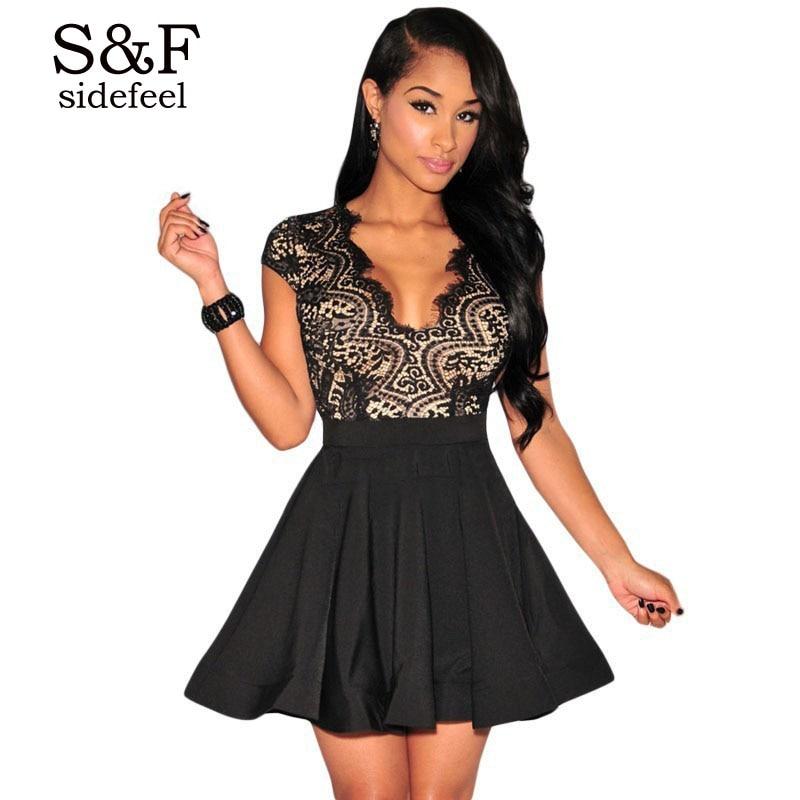 Wholesale Women Sexy Lace Black Bodycon Bandage Dress