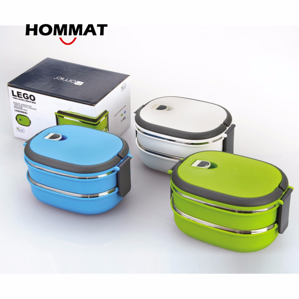 2 tier stainless steel thermos bento lunch box japanese insulated lunchbox th. Black Bedroom Furniture Sets. Home Design Ideas