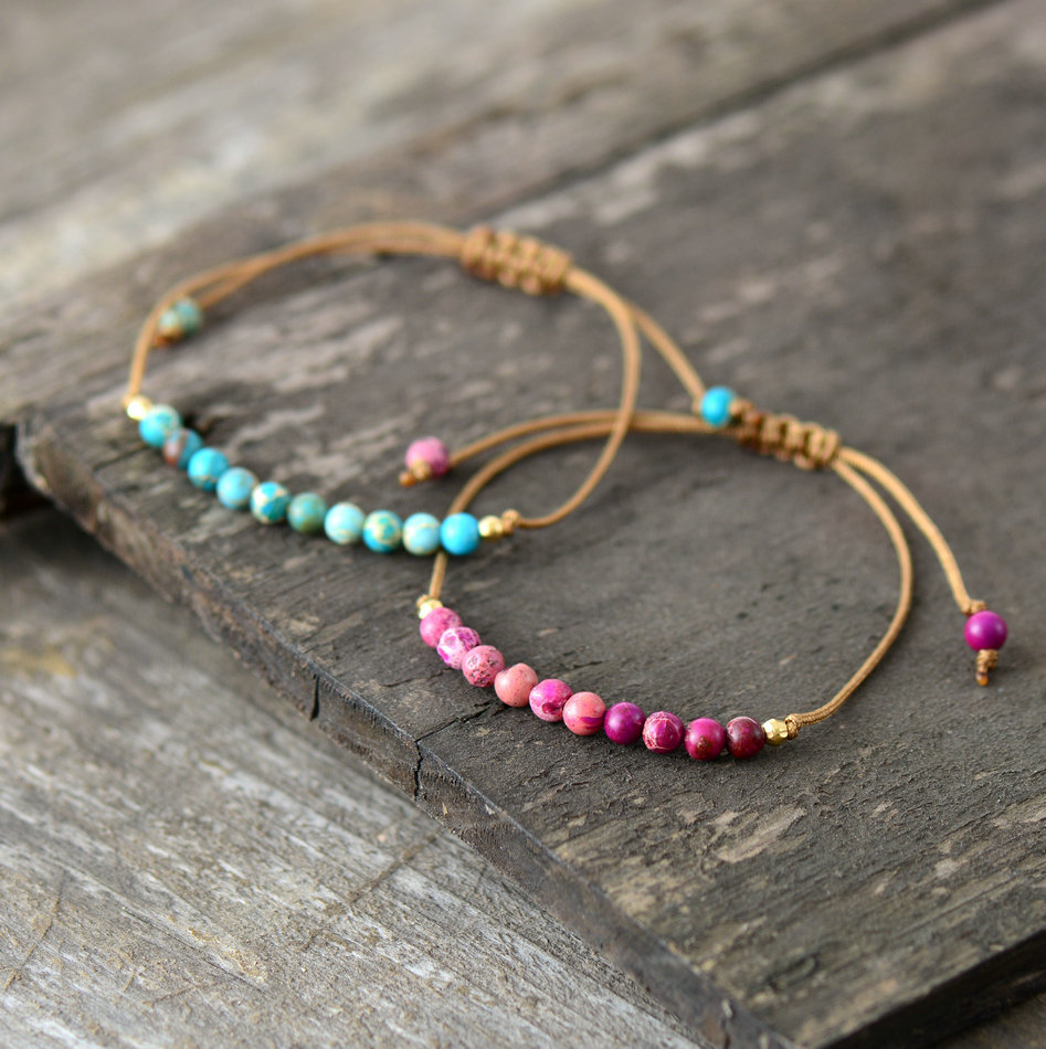 Natural Stone Simple String Bracelet