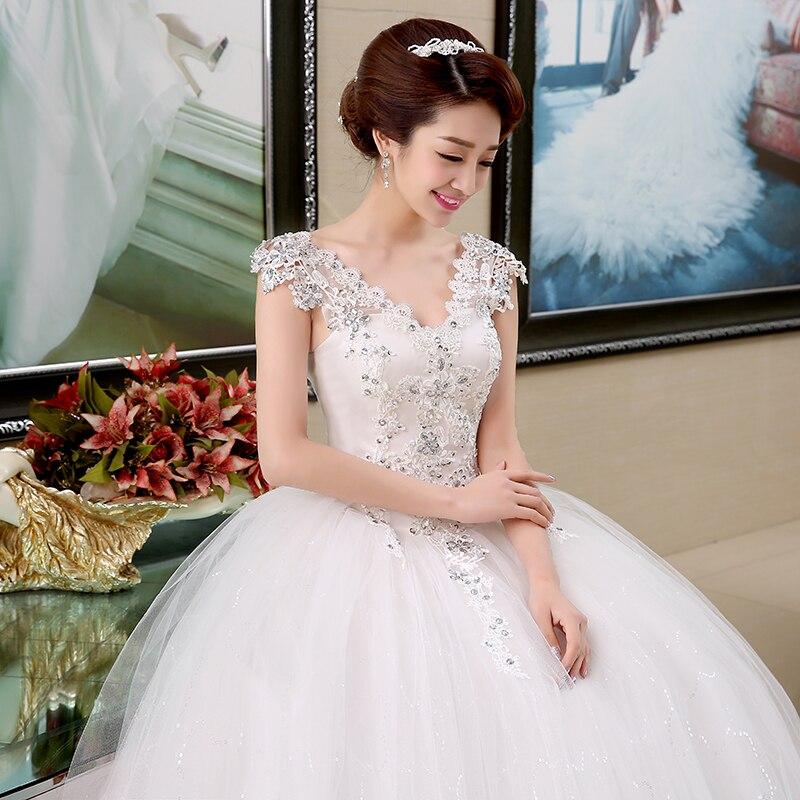 Plus Size Lace V Neck Cheap Wedding Dress 2018 Summer Style ...