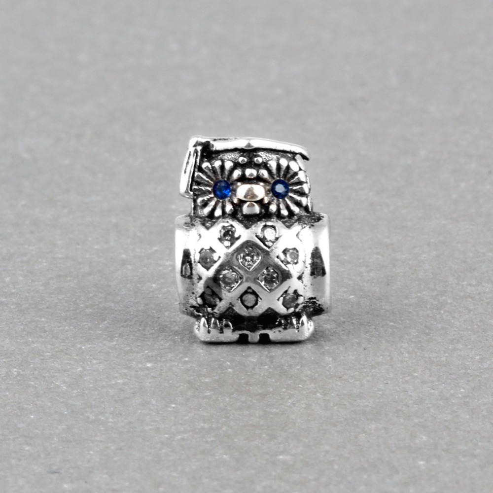 Original Beads: ZMZY 925 Sterling Silver Charms Beads Graduate Owl Fit