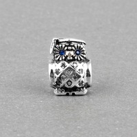 925 Sterling Silver Charm Beads Graduate Owl Fit Original Pandora Bracelet Jewelry For Women