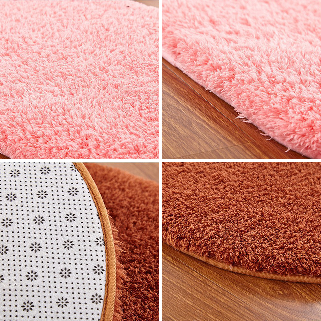 bodenmatte teppich baumwolle weichen festen ovalen fumatte shaggy wildleder teppich footcloth wohnzimmer flur kche stcke in with teppich baumwolle - Ovaler Broteppich