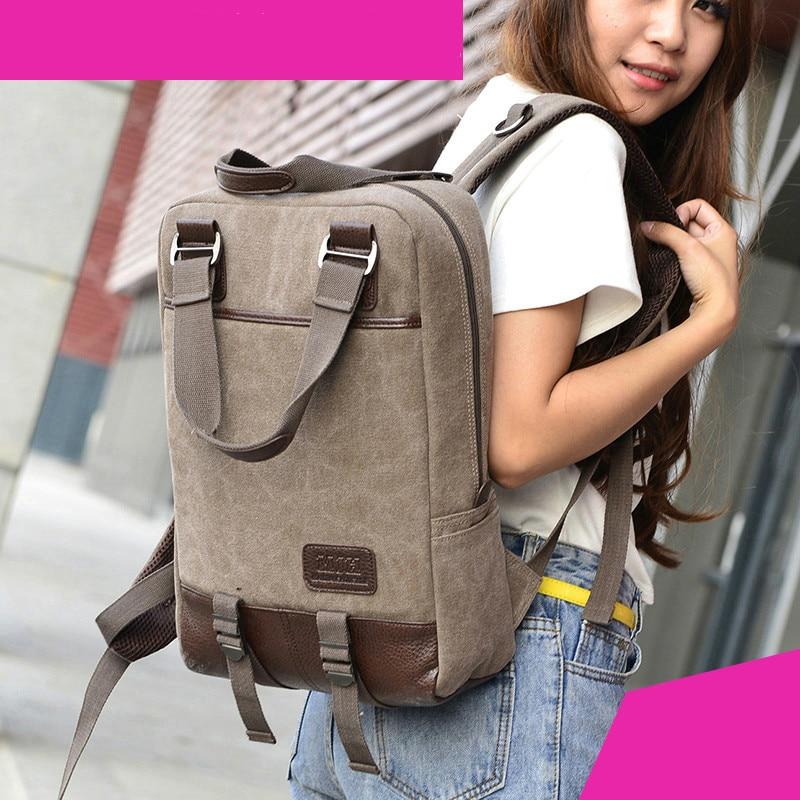 13 14 15 6 17 3 inch Computer Shoulder Bag Shockproof Laptop Backpack Canvas Leisure Men