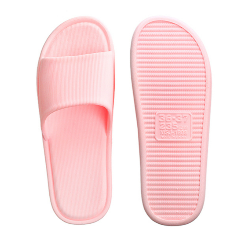 2019 new Summer couple slippers women 39 s indoor comfortable bathroom non slip light bath home slippers in Slippers from Shoes
