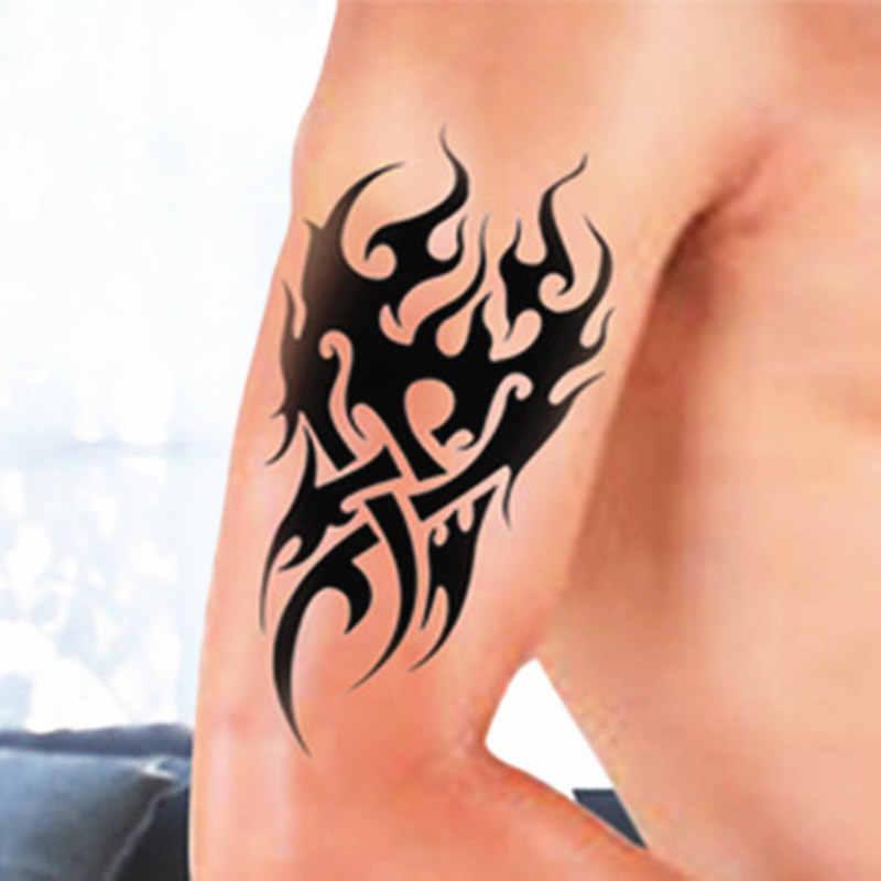 808cd30f8d963 Arm tattoo stickers black Totem Waterproof Temporary Tattoo cool body art  Sticker boys men tattoo makeup