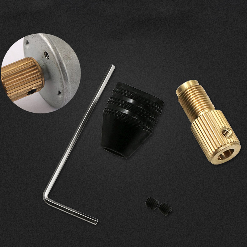 5.0 Mm Mini Drill Chuck Electric Motor Shaft Fixture 0.3mm-3.2mm Small To Drill Bit Drill Chuck Adapter Micro Drill Chuck Hex