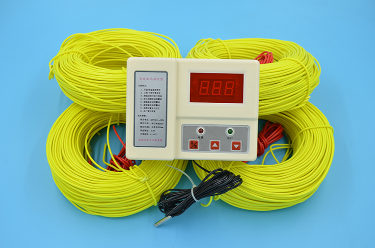 Free Shipping Farm Use 4*100M 1kw 220V Soil Heating Wire+5500W Temperature Controller Greenhouses Heating Wire