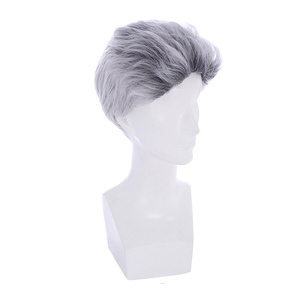 Image 2 - L email wig New Movie Carlos Character Cosplay Wigs 25cm Short Mixed Color Heat Resistant Synthetic Hair Perucas Cosplay Wig