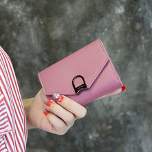 Wallets 2019 New Fahsion Mini Womens Wallets Purses Short Female Coin Purse Credit Card Holder(China)