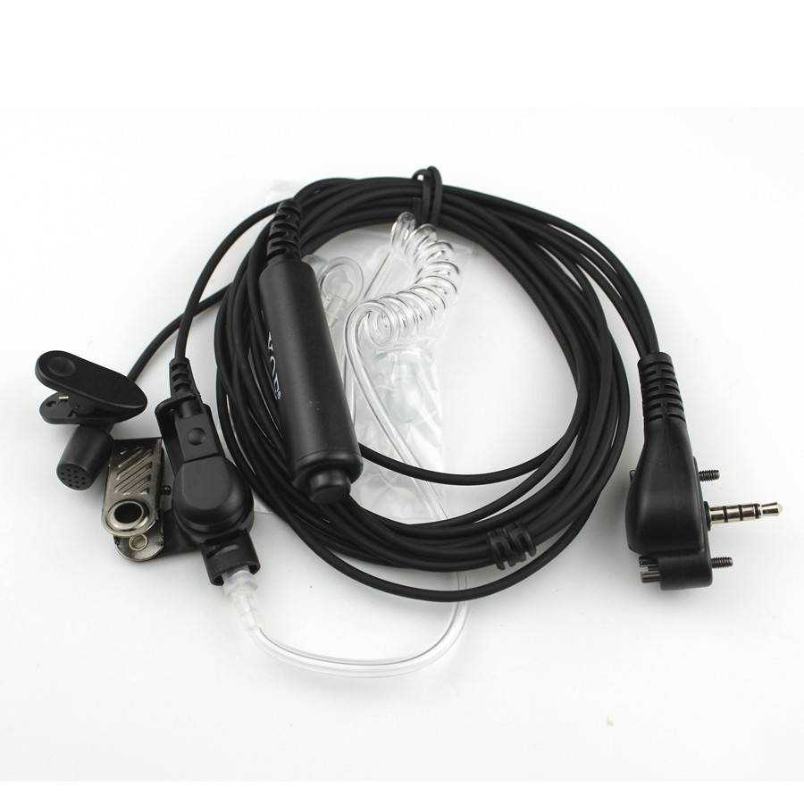 Headset Acoustic Air Tube Earpiece Earphone PTT For Vertex Standard VX131 VX230 VX231 VX261 Walkie Talkie
