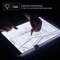 A3 Dimmable Brightness Digital Tablet LED Light Box Graphic Painting Tablet Electronic Drawing Board Tracing Copy Plate Pad