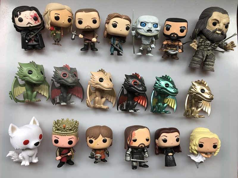 Original Funko Pop Secondhand Game Of Thrones Jon Snow, Dragon, Hound, Joffrey Vinyl Action Figure Collectible Model Loose Toy