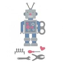 Robot ile alet takımı Metal Kesme Ölür için DIY Scrapbooking Kabartma Dekoratif El Sanatları Malzemeleri Kağıt Kartları Yapma Ye...