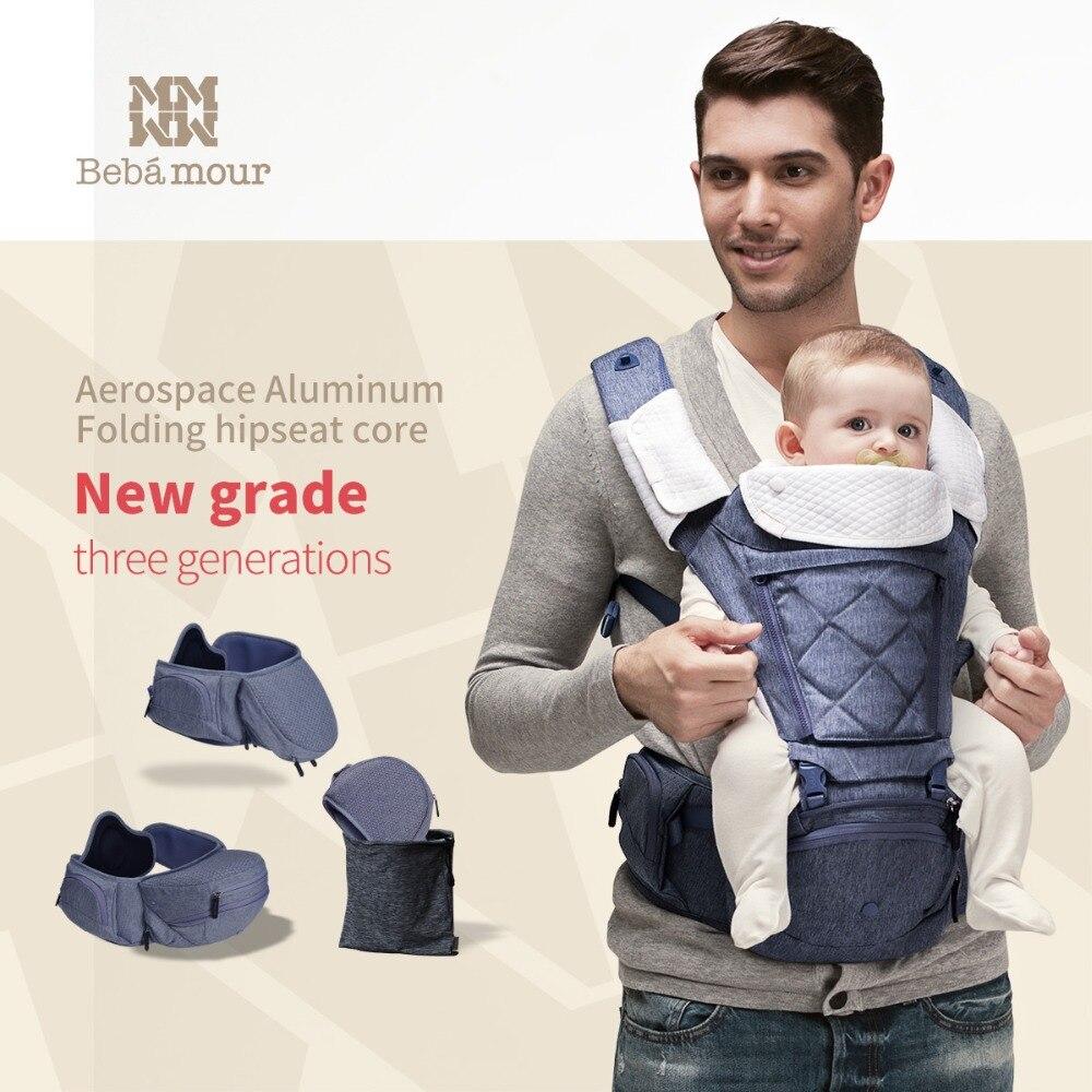 Bebamour Porte-Bébé Respirant Bébé Siège Pour Hanche Hipseat Sac À Dos Ergonomique Transporteur 360 Multifonctionnel Bébé Wrap Slings pour Bébés