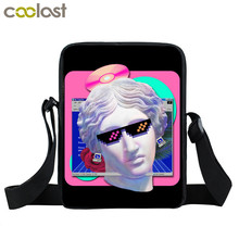 Fashion Vaporwave Mini Messenger Bag Aesthetic Michelangelo David Bag