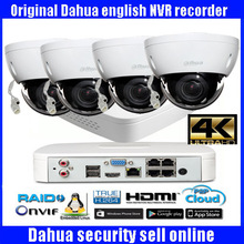 Freeship Dahua H265 4K NVR NVR4104-P-4ks2 Motion Detection NVR with 4MP IP Infrared zoom lens camera CCTV  camera System
